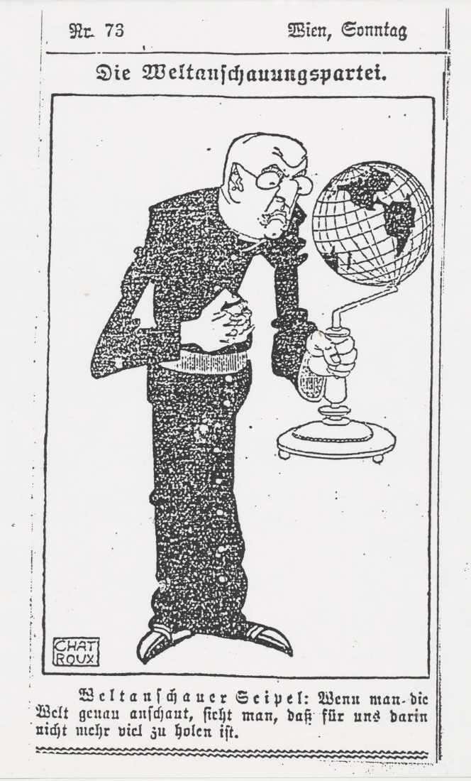 """Chat Roux"" caricature from ""Arbeiter Zeitung"", 1925"