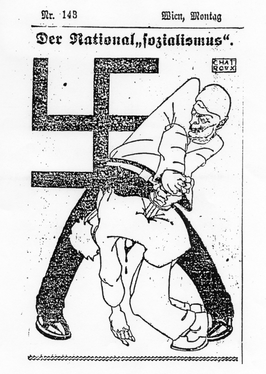 """Chat Roux"" caricature from ""Arbeiter Zeitung"", 1926"