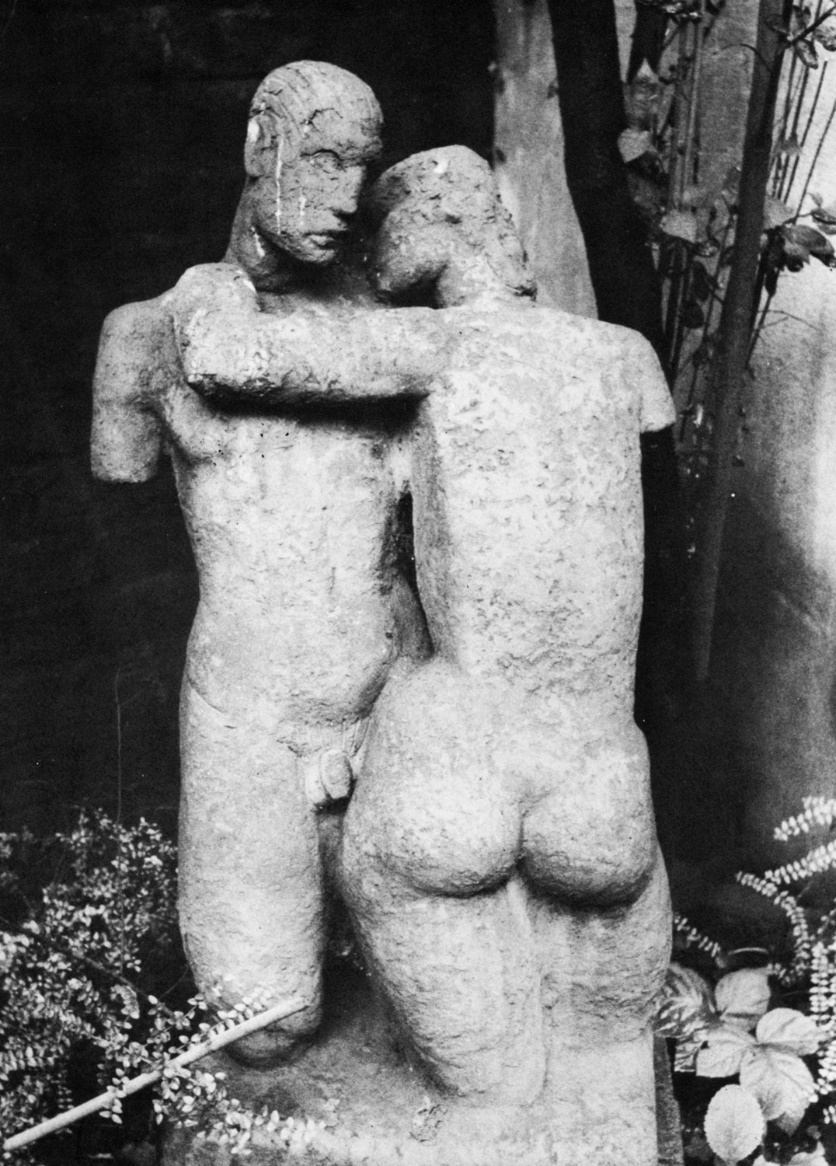 Lovers (terracotta) by Siegfried Charoux, 1935